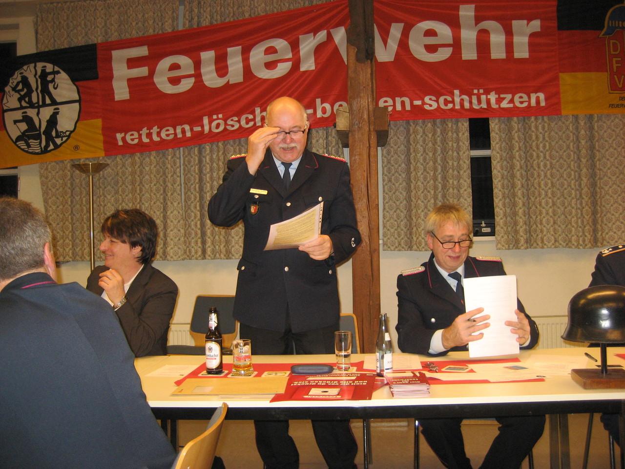 Herr Jürgen Schmitts ( Stadtbrandmeister Vienenburg )