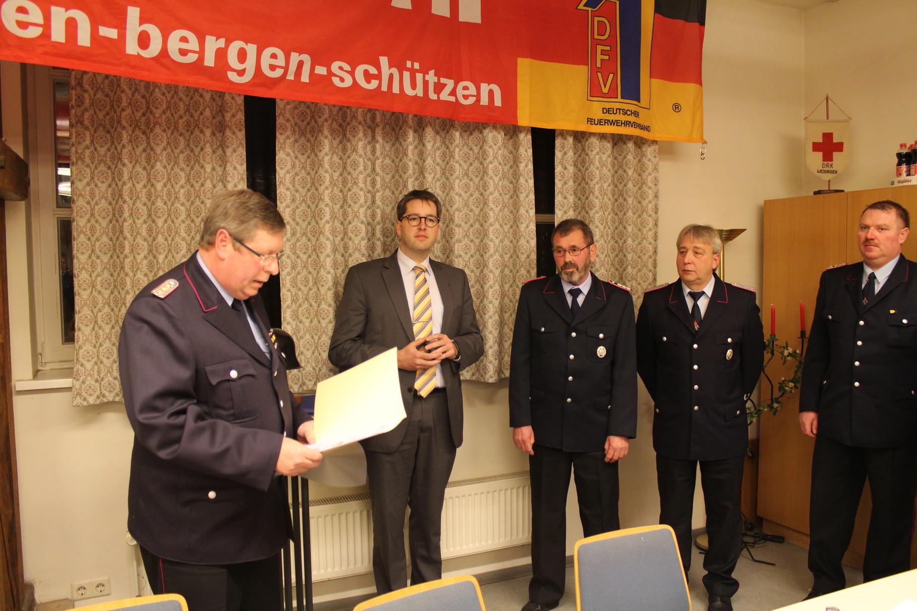 Ehrung Kamerad Heinz Kasten , 40 jähriges Dienstjubiläum