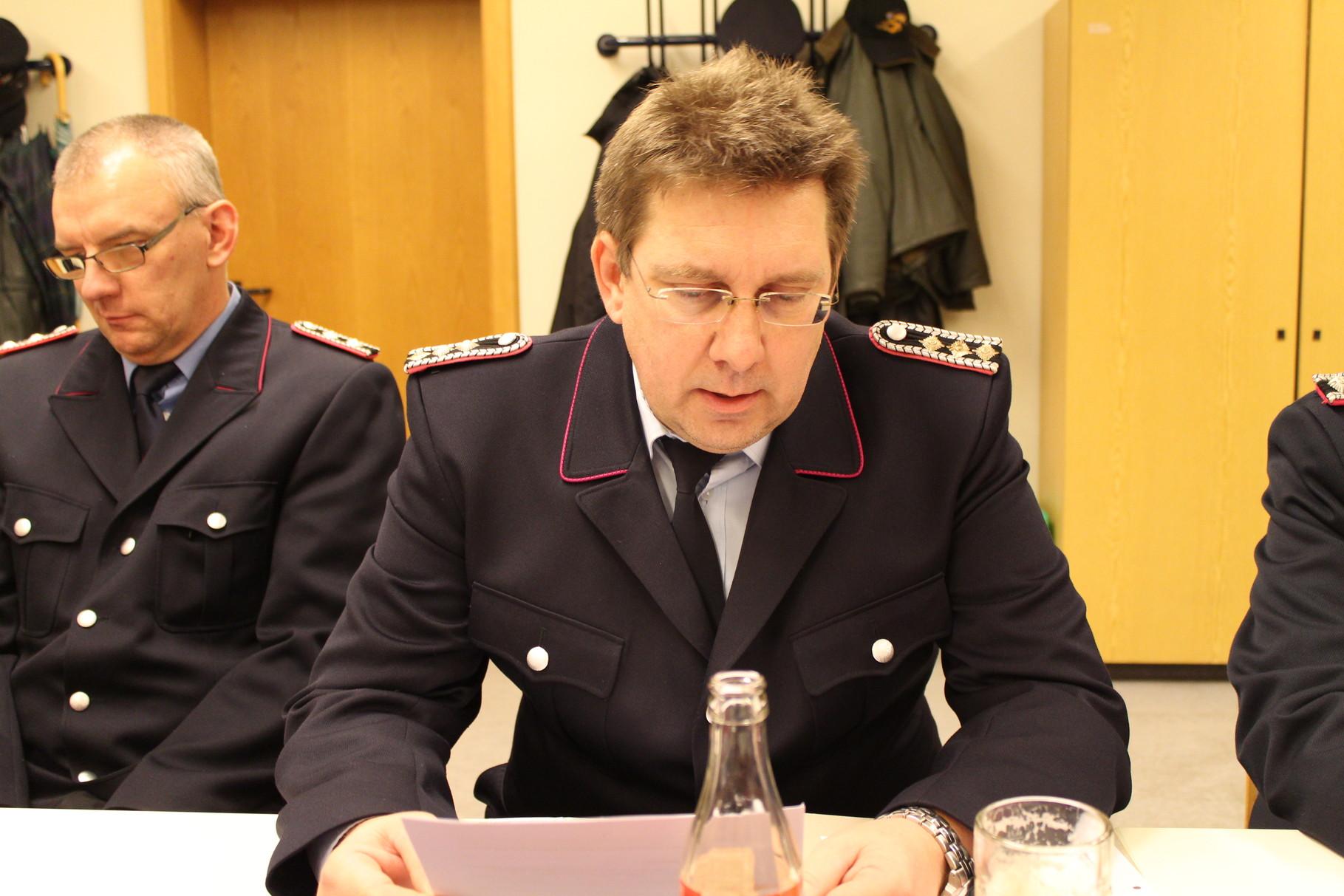 FFW Schriftführer , Kamerad Berthold Mattias , Kommando FFW