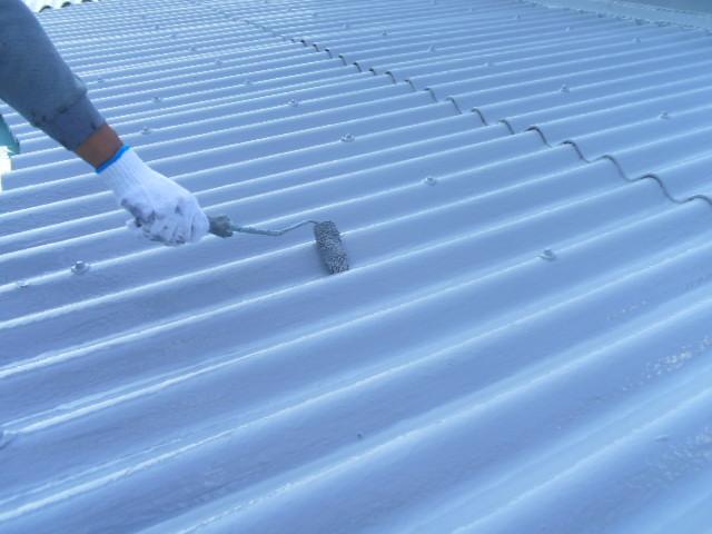 高耐候性UVトップコート 二回目塗布
