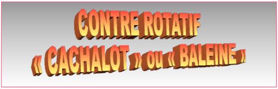 "CONTRE ROTATIF ""CACHALOT"" ou ""BALEINE"""