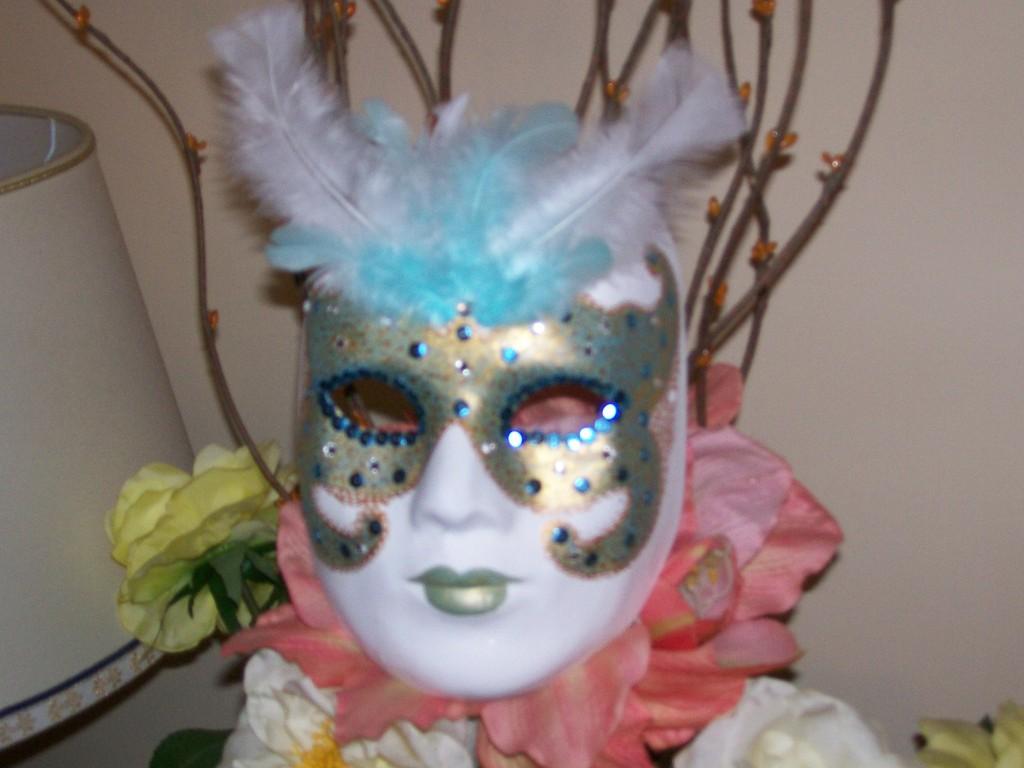 Maschera carnevale dipinta a mano