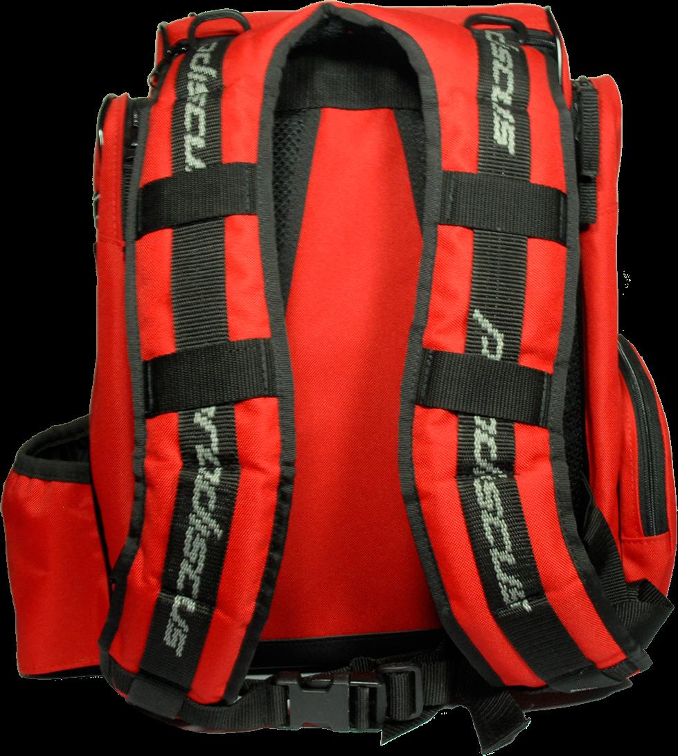 Breite Schultergurte, ein optionaler Brustgurt, an den Schultern leicht gepolstert, und das alles robust verarbeitet: ein Rucksack für jedes Gelände