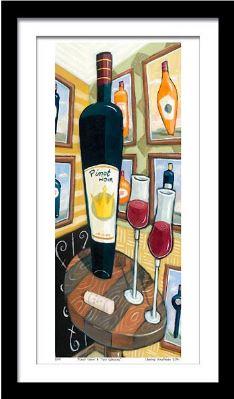 """""""Pinot Noir"""", 3-D Art Grafik, Limitierte Auflage, handsigniert, mit Rahmen 33,50 x 60 cm"""