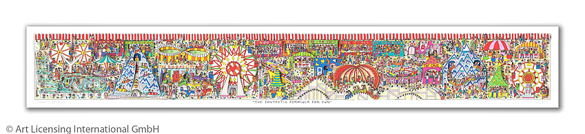 3D-Serigraphie mit Passepartout, 120 x 40 cm