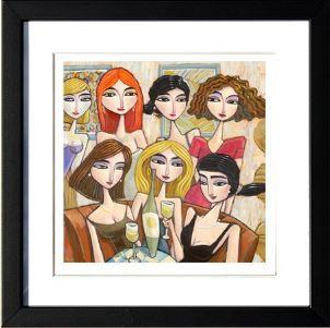 """""""Best Friends"""", 3-D Art Grafik, Limitierte Auflage, handsigniert, mit Rahmen 23 x 23 cm"""