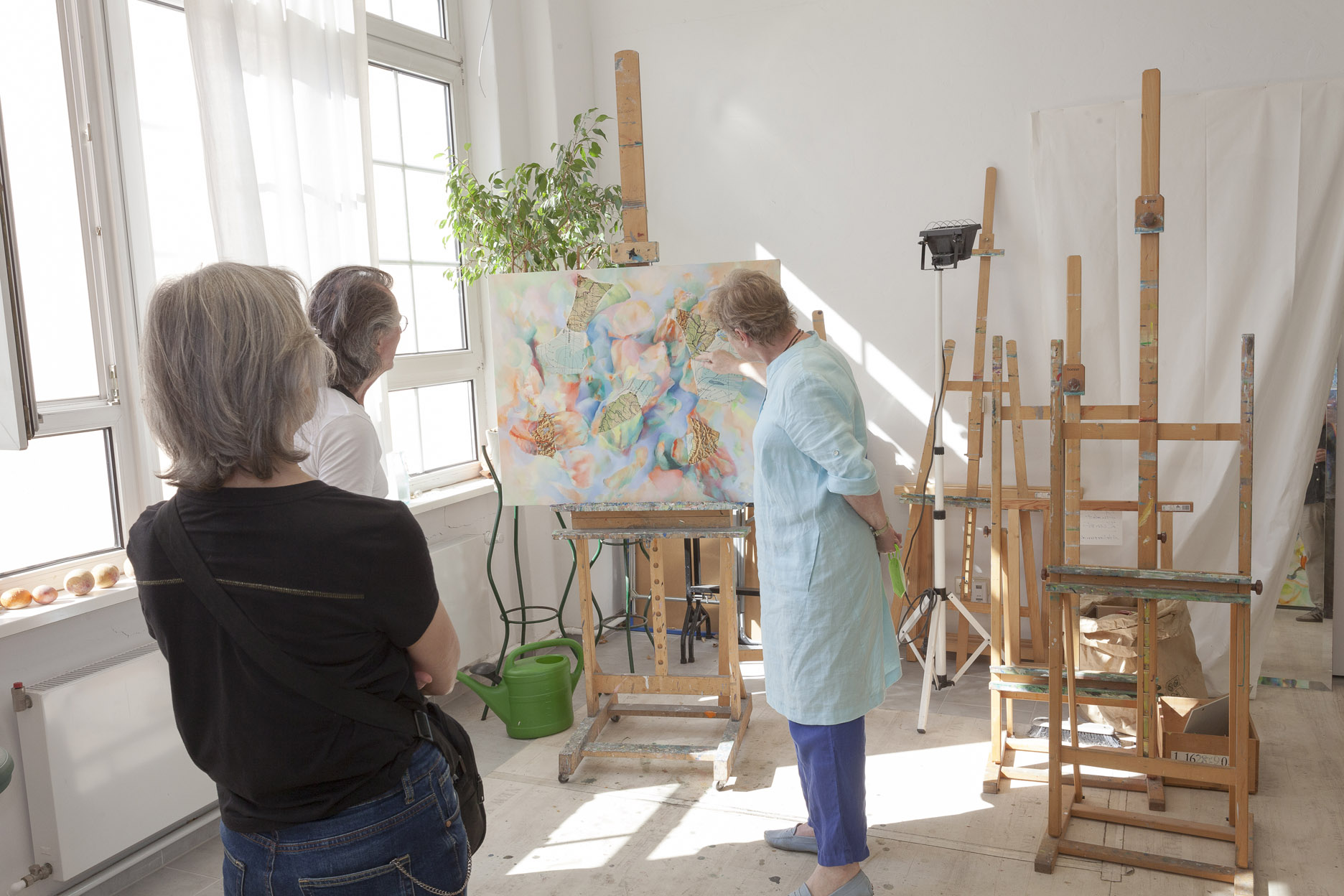 Atelierspaziergang am 14.08.2021, mit Dr. Peter Funken, Atelier Schneider
