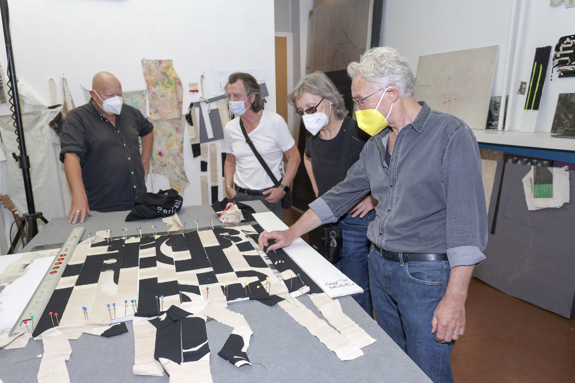 Atelierspaziergang am 14.08.2021, mit Dr. Peter Funken, Atelier Fischer