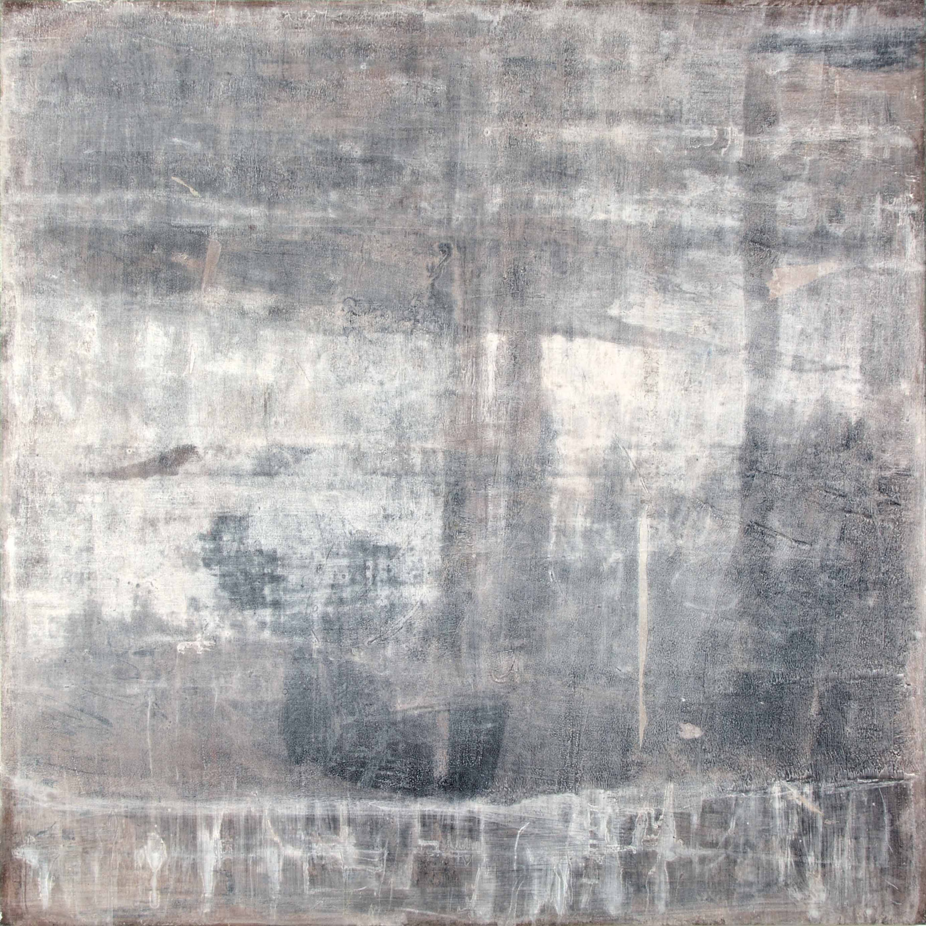 "Liane Birnberg, ""Distant shape"", 2020, MT/Leinwand, 140 x 140 cm"