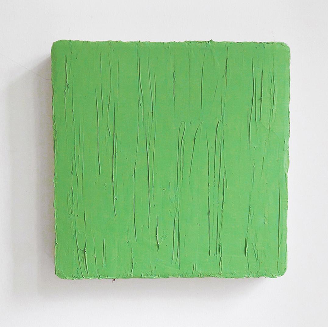 "Christiane Conrad, ""Schilf"", 2021, Öl auf Leinwand, 30 x 30 cm"