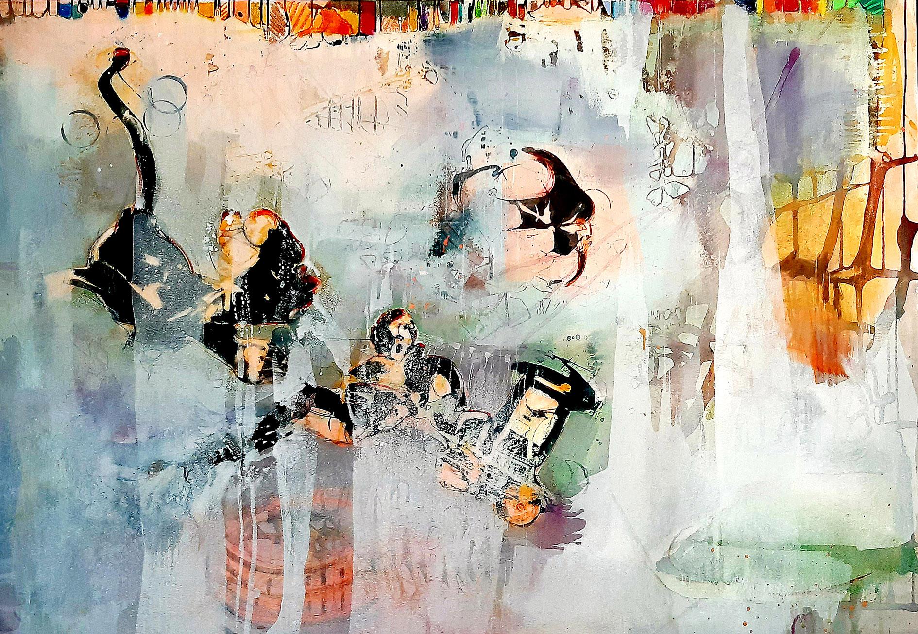 "Ilka A. Lörke, ""serendipity"", Acryl auf Leinwand, 110 x 135 cm, VG Bild-Kunst"