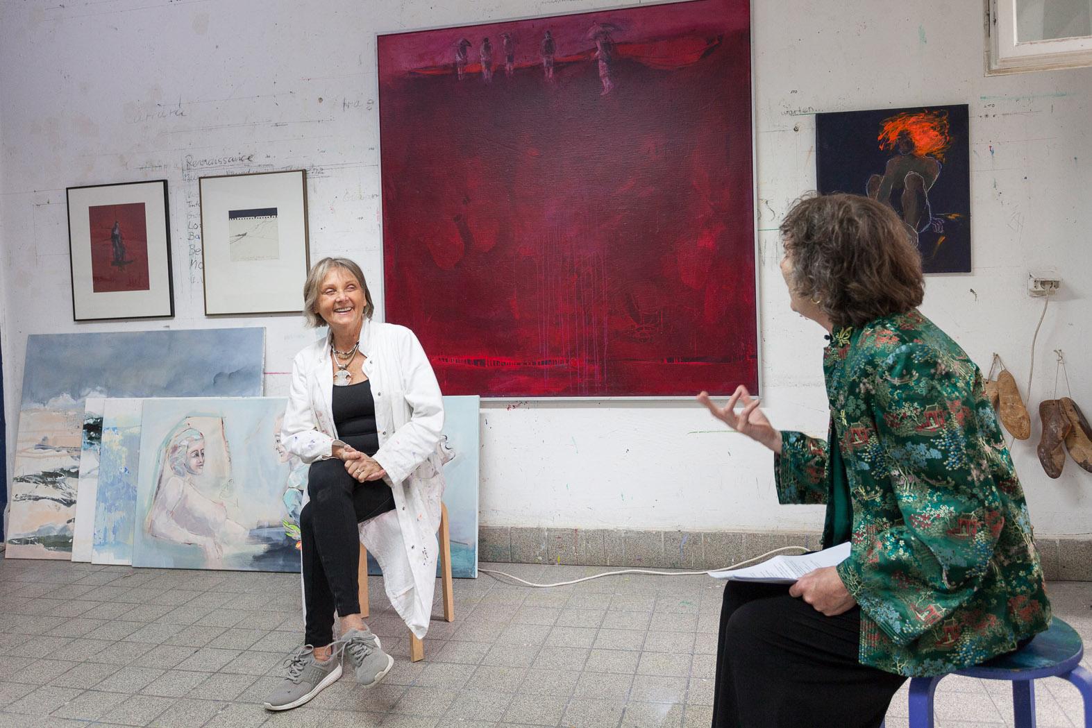 Atelierspaziergang mit Dr. Helen Adkins, Atelier Lörke