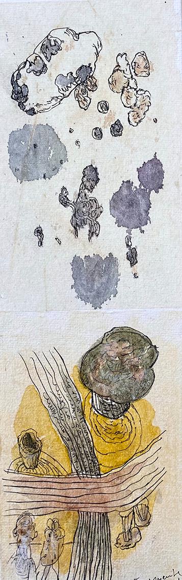 """Brigitte Arndt, """"Fragmente"""", 2021, Mischtechnik"""