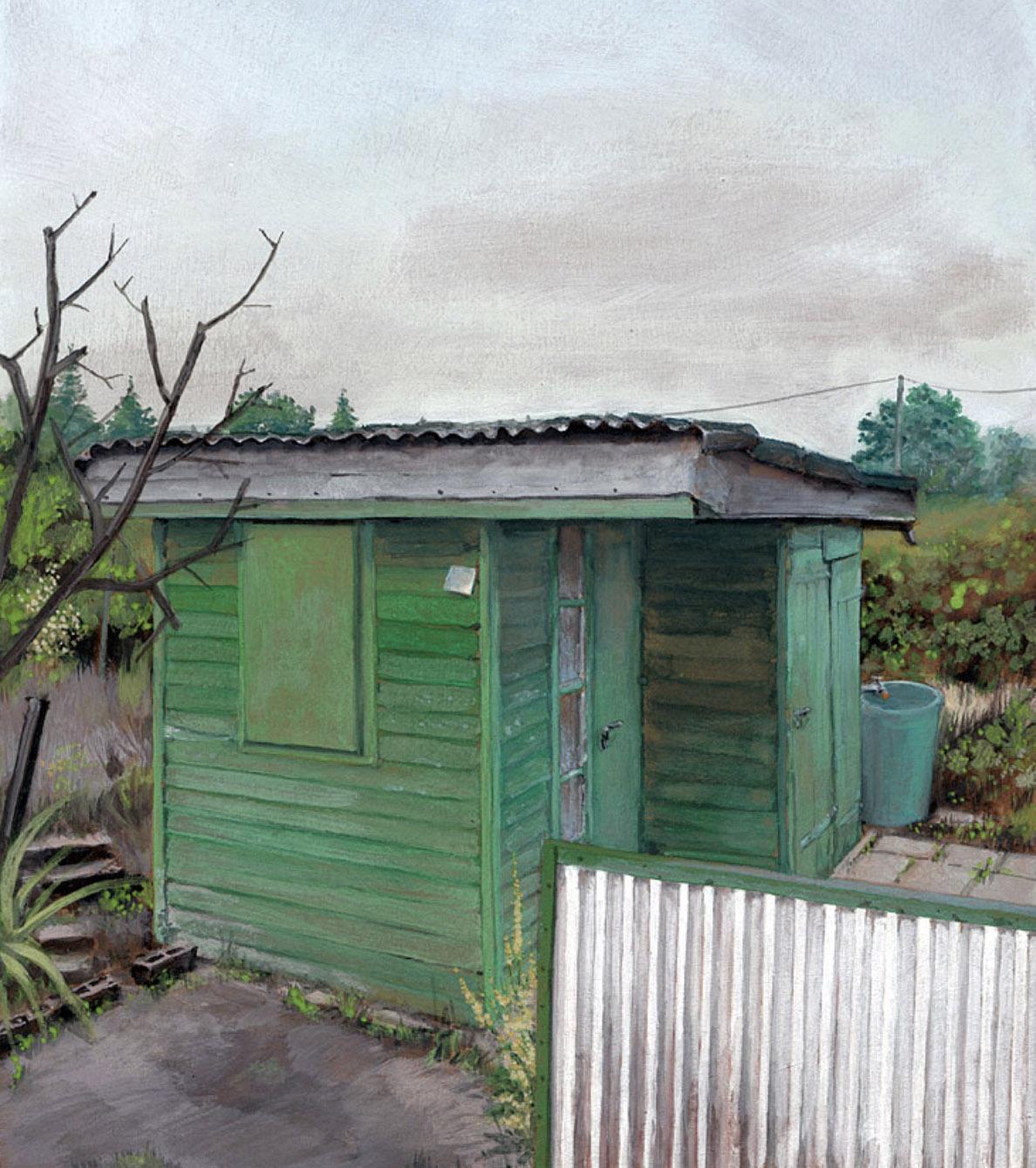 """Ommo Wille, """"Laube 6"""", 2021, Gouache, 21 x 30 cm"""