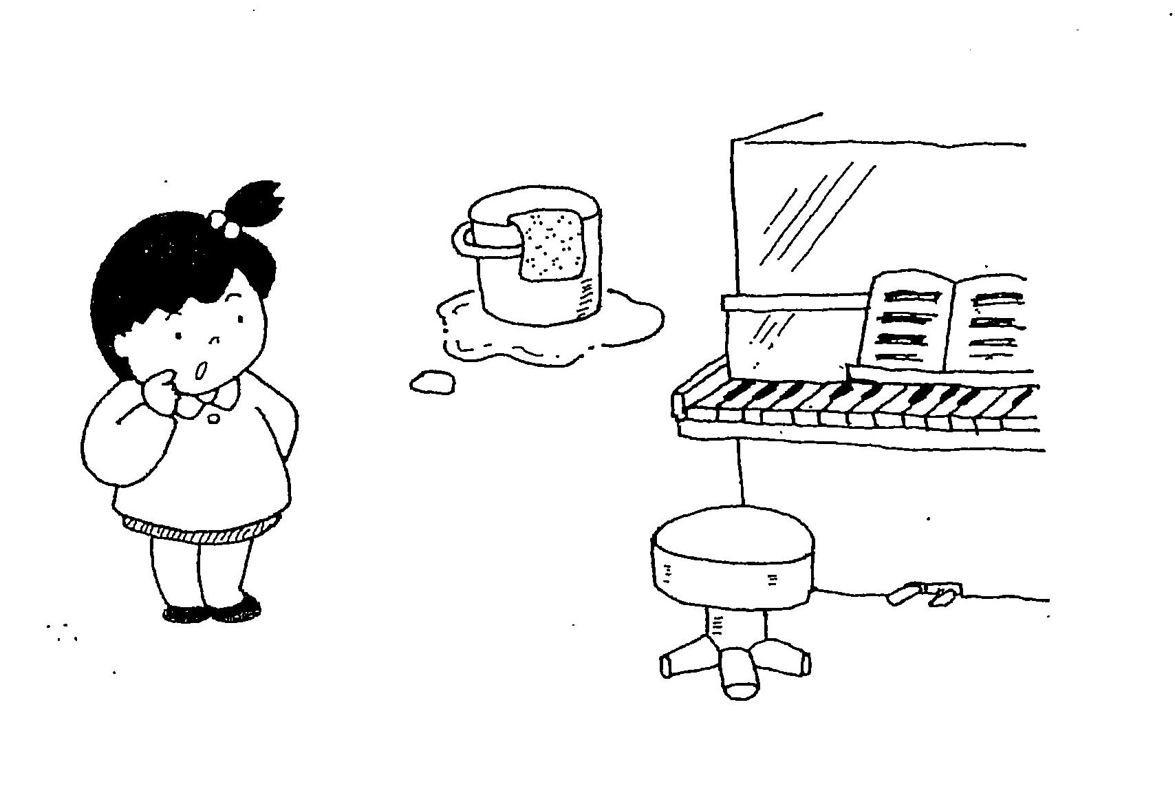 """几帳面さ 名匠は道具を大切にするという ピアノのふたが開けっ放しに ほうきのひもが切れっぱなしに ぞうきんがよごれっぱなしに ほかにも""""ぱなし""""はありませんか"""
