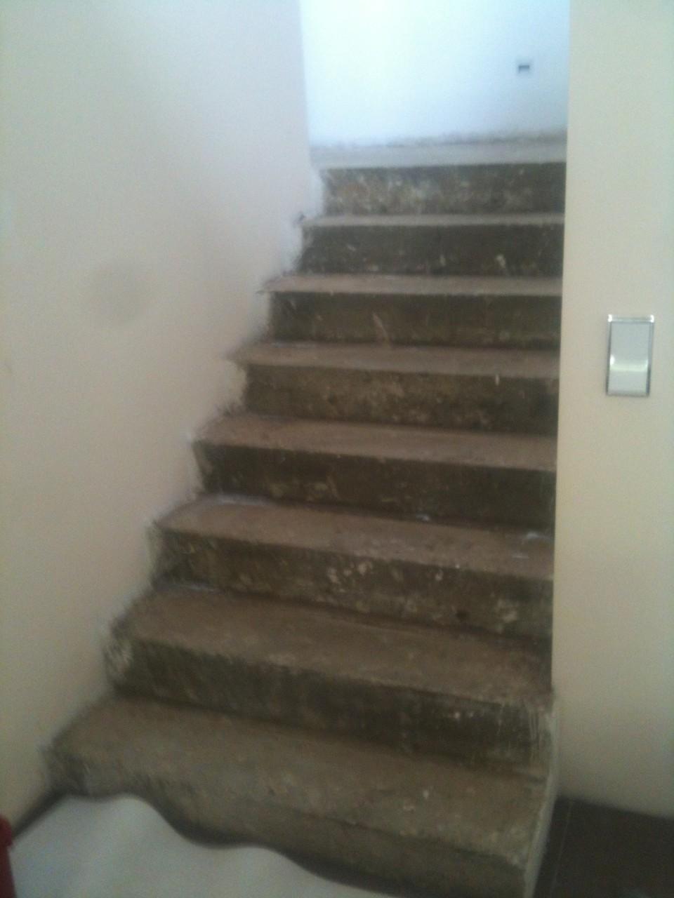 Treppe mit Fertigparkett verkleiden