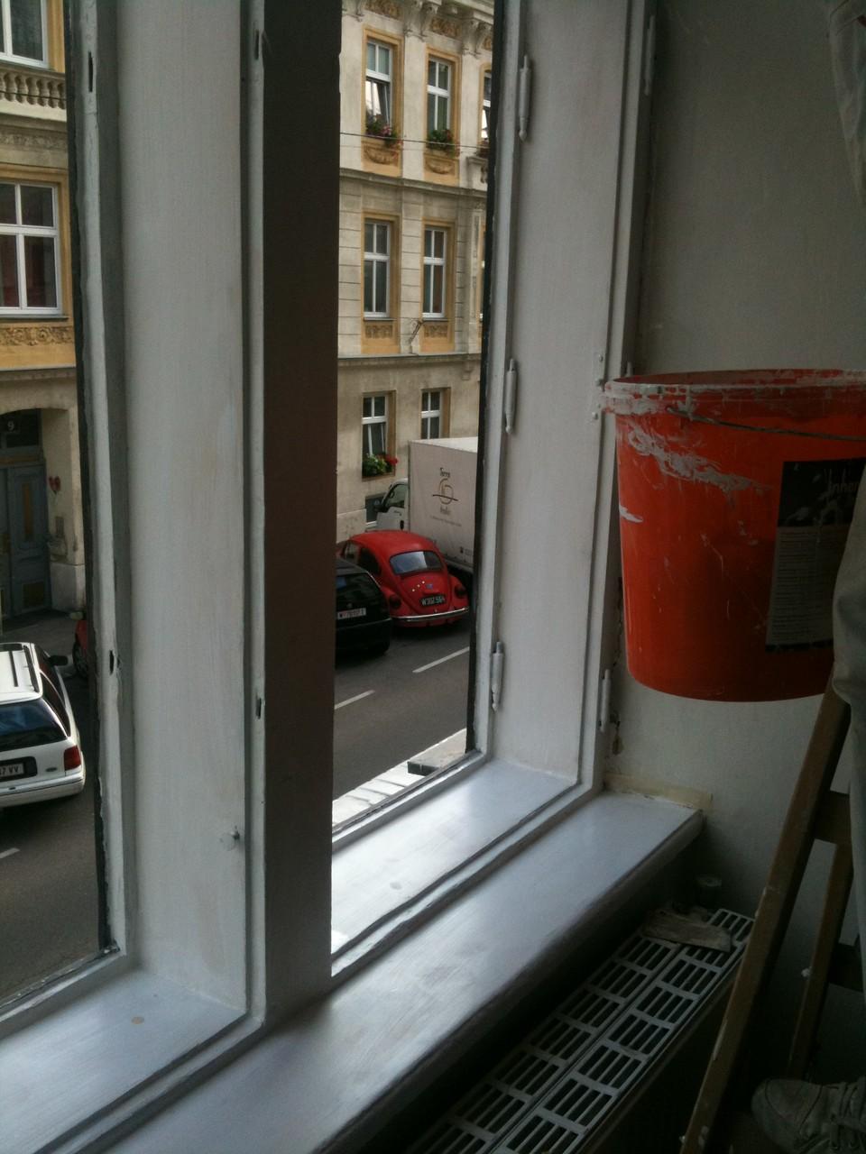 Fenster lackieren