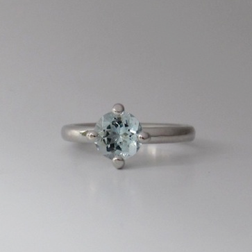 Ring-Palladium-Aquamarin
