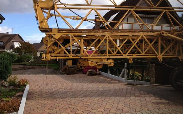 Enge Baustelle in Durmersheim