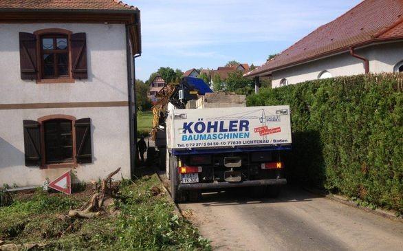 Enge Zufahrt in Wintzenbach