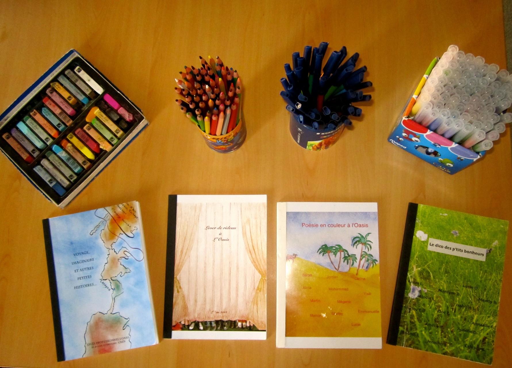Ouvrages écrits par les jeunes pris en charge en Art-thérapie.