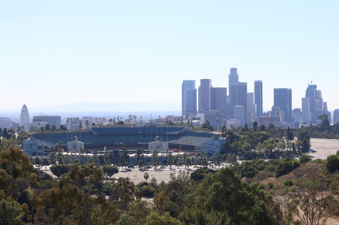 Elysian Park (vue sur le Dodger's Stadium)