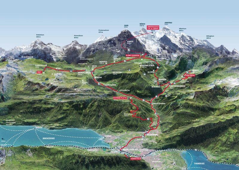 Discover the region around Eiger, Mönch und Jungfrau