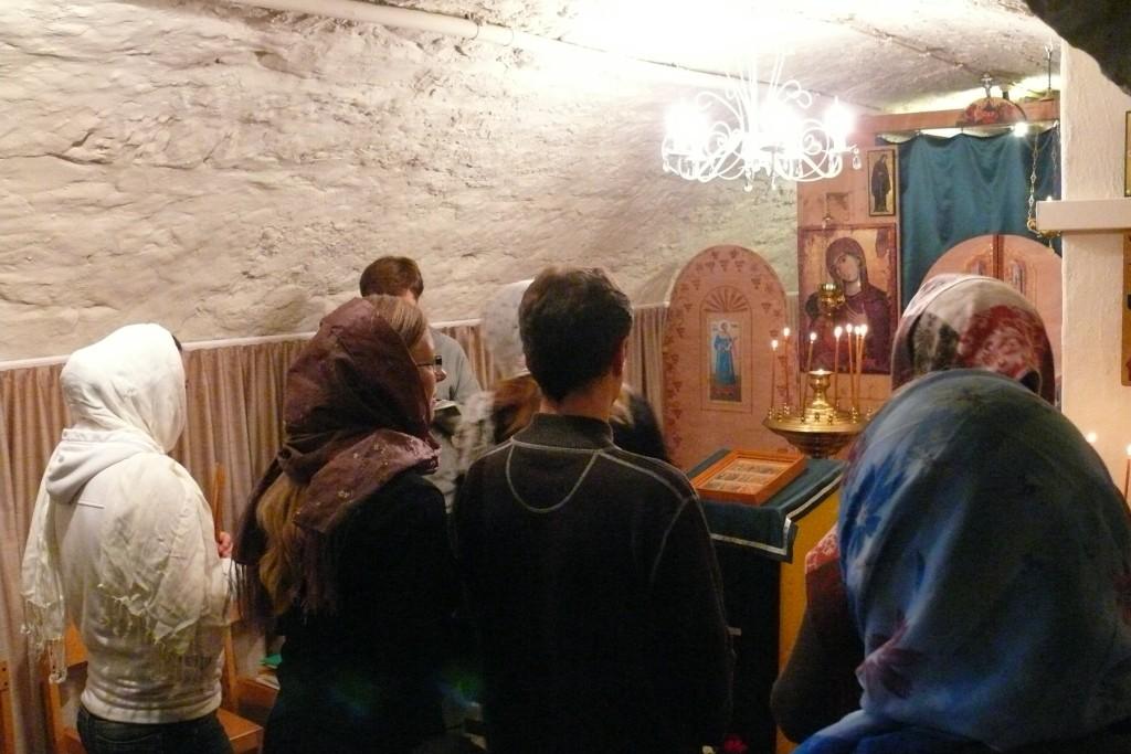 Der erste Gottesdienst in der renovierten Kirche.