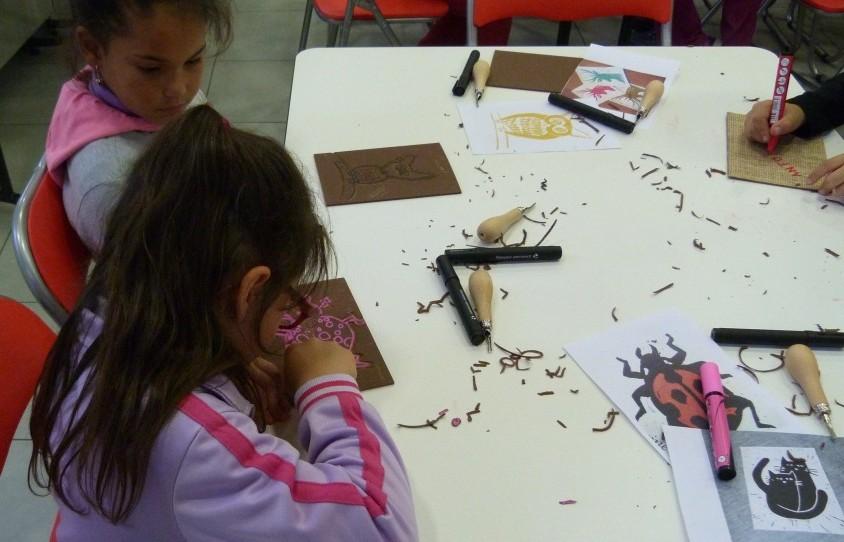 atelier de linogravure