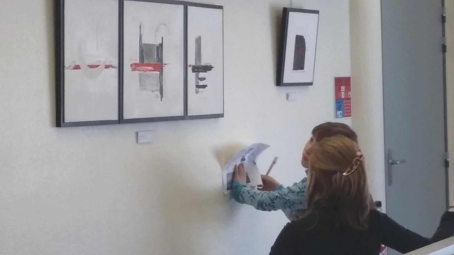 découverte de l'exposition de Patrick Cutté