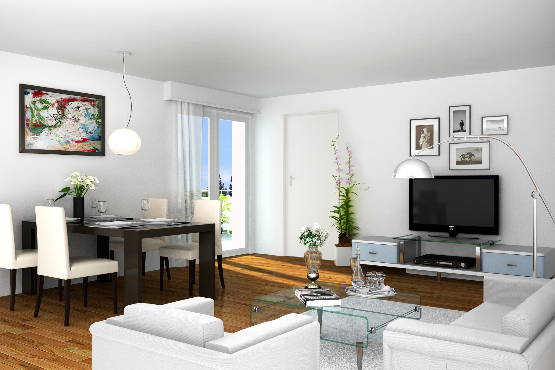 exklusive neubau penthouse we in berlin charlottenburg 3d immobilien tv. Black Bedroom Furniture Sets. Home Design Ideas