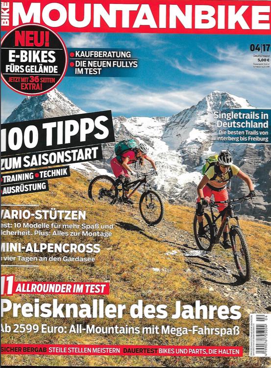 Cover MOUNTAINBIKE Magazin April 2017