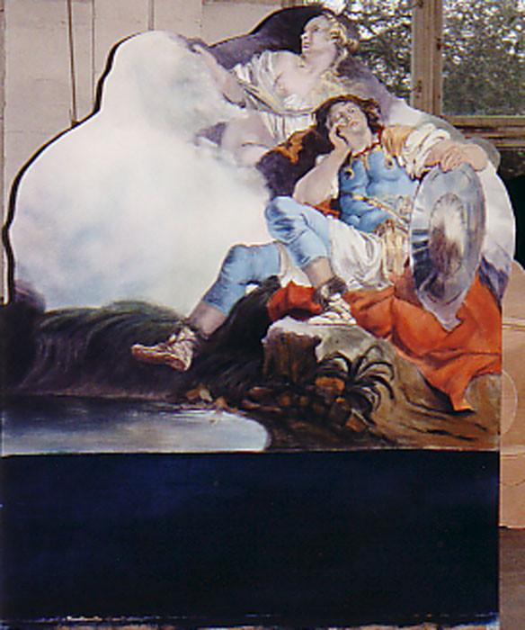 """Kulissenteil gemalt für die Aufführung """"Orlando"""" im Schloss-Theater Potsdam Sanssouci"""