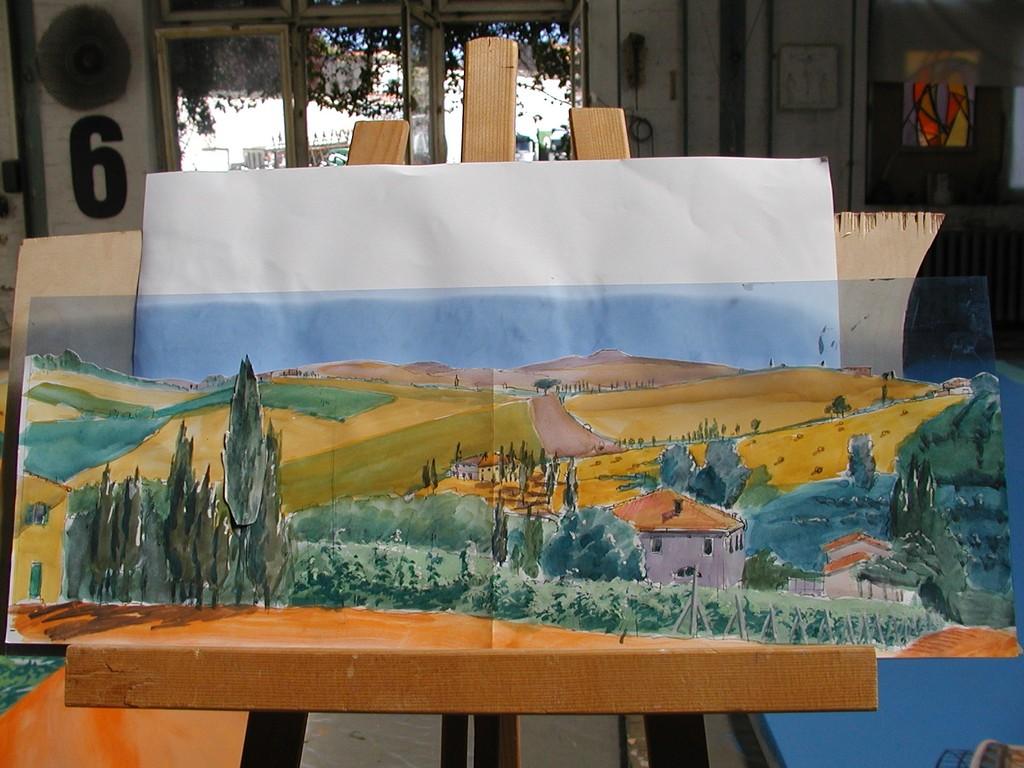 Panoramamalerei für Messeveranstaltung