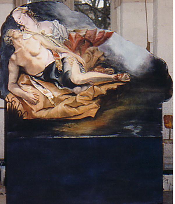 """Kulissenteil gemalt für dei Aufführung """"Orland"""" Schloss-Theater Potsdam Sanssouci"""