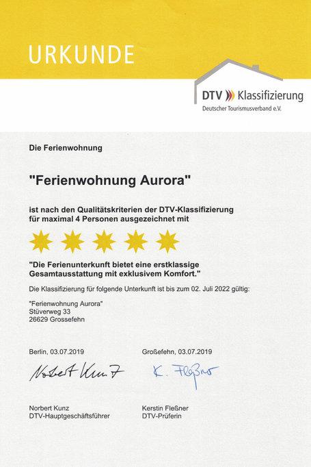 """Zertifikat """"Aurora"""""""