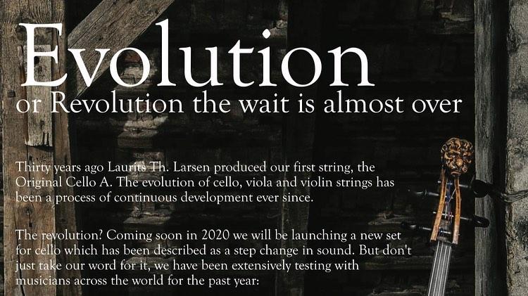 NEU Cello Strings Evolution  IL CANNONE  from  Larsen