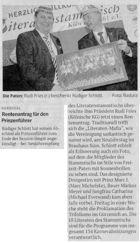 Kölnische Rundschau 3.1.2019