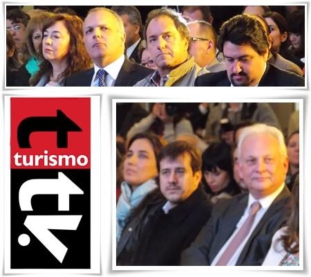 Martín Buzzi, Daniel Scioli, Maurice Closs, Mariano Reclade y Daniel Olivera