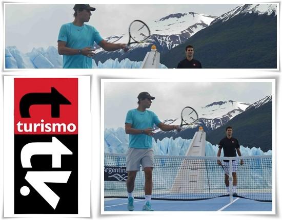 Nadal y Djokovic en el Glaciar Perito Moreno