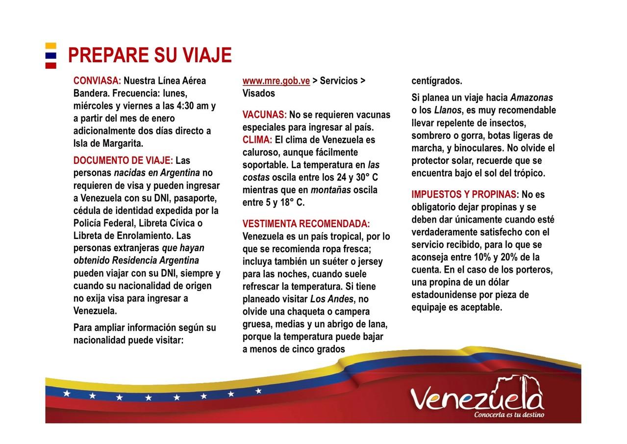 Preparar viaje a Venezuela