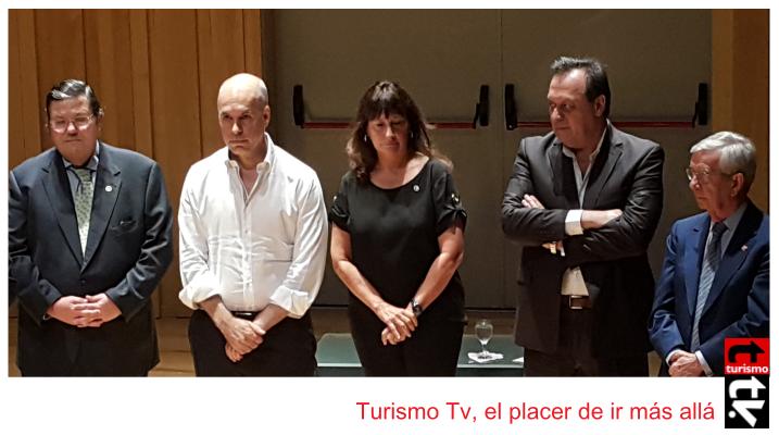 """Horacio Rodriguez Larreta y Gustavo Santos en  """"Buenos Aires Capital Iberoamericana de Cultura Gastronómica 2017 """""""