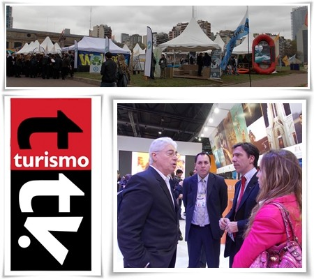 Hernán Torre en el stand de la provincia de Buenos Aires
