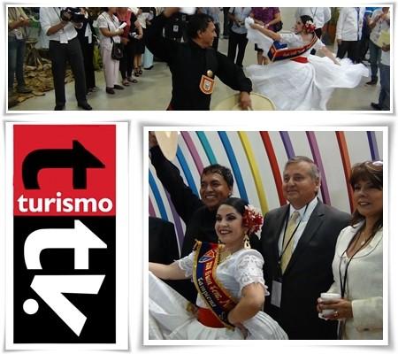Ministro de Turismo de Ecuador y Embajadora de Perú en FITE 2013, Guayaquil, Ecuador