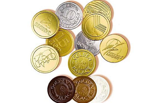 Шоколадные монеты купить в москве 1 копейка 1955 года