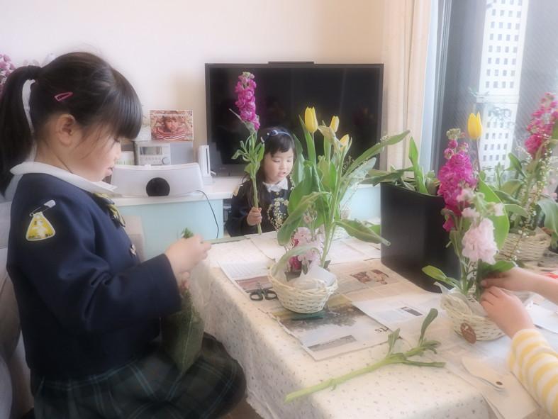春の花でアレンジメント