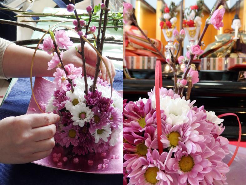 ひな祭り花玉作り