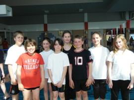 Das erfolgreiche Talentis-Team (v.l.: Florian, Lino, Emma, Laurin, Birte, Marc, Antonia, Nele)