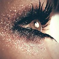 Make-up Gesicht Edelsteine Selbstklebend