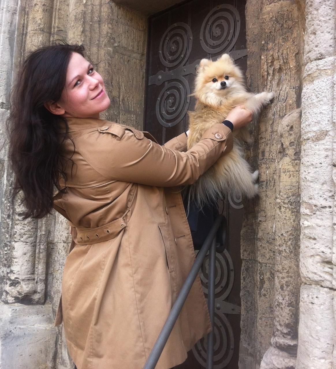 Wie der berühmte Löwe kratzt Alfie am Braunschweiger Dom